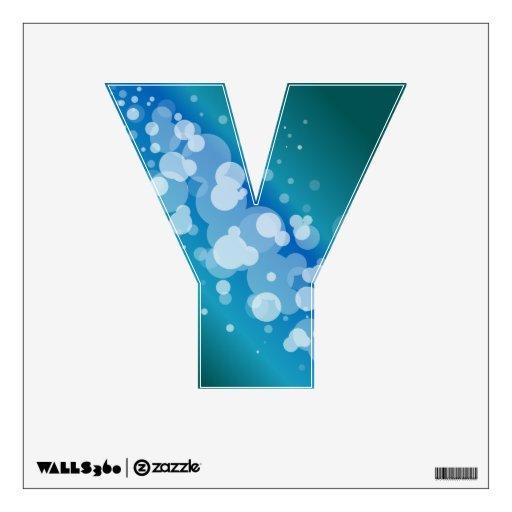 Burbuja abstracta azul - Y Vinilo
