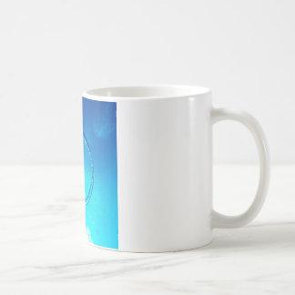 Burbuja agua-aire del anillo tazas de café