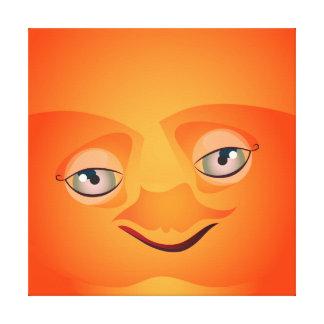 Burbuja anaranjada de Cutie Lona Envuelta Para Galerias