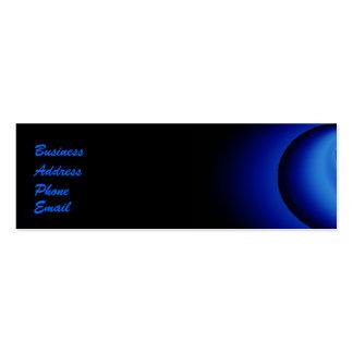 Burbuja azul del borde tarjetas de visita mini