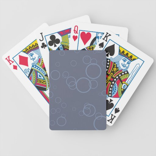 Burbuja azul del círculo del dril de algodón baraja cartas de poker