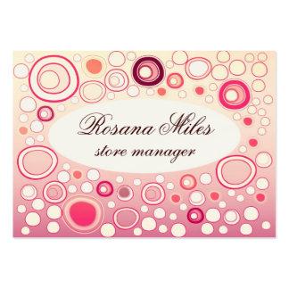 burbuja color de rosa preciosa tarjeta personal