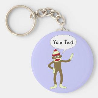 Burbuja cómica adaptable del discurso del mono del llavero personalizado