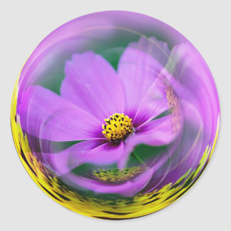 Burbuja de Cosmo Etiqueta Redonda