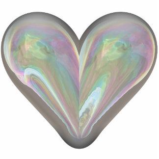 burbuja de jabón del corazón escultura fotográfica