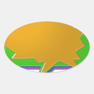 Burbuja de la CHARLA: Añada la plantilla Editable Pegatina De Oval Personalizadas