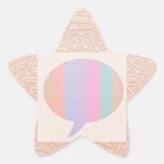 Burbuja de la CHARLA:  Compre en blanco o añada el Pegatina En Forma De Estrella