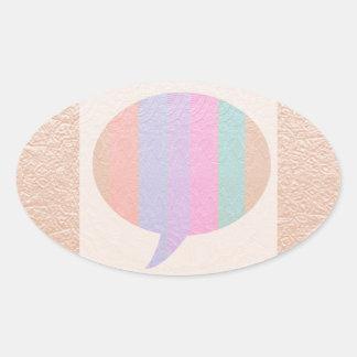 Burbuja de la CHARLA:  Compre en blanco o añada el Pegatina Ovalada