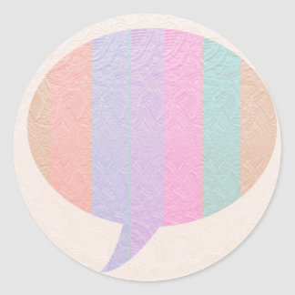 Burbuja de la CHARLA:  Compre en blanco o añada el Pegatina Redonda