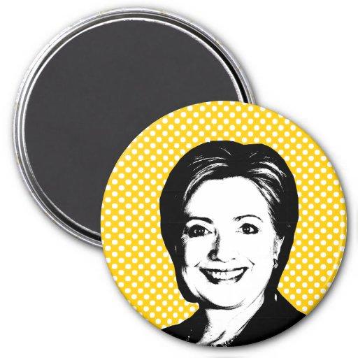Burbuja de la charla de Hillary Clinton Iman Para Frigorífico