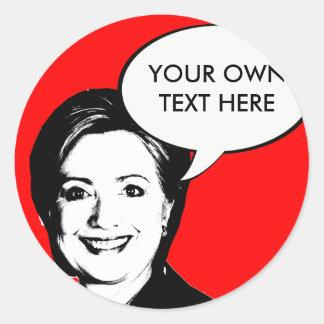 Burbuja de la charla de Hillary Clinton Pegatina Redonda