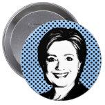 Burbuja de la charla de Hillary Clinton Pins