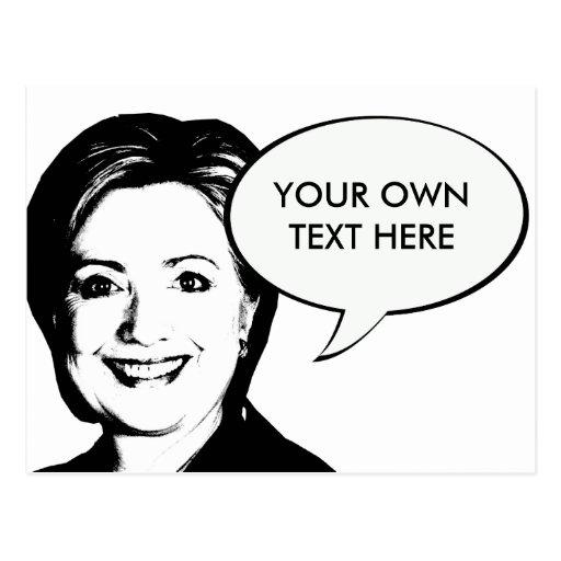 Burbuja de la charla de Hillary Clinton Postales