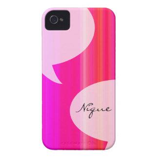 Burbuja de la charla del arco iris Case-Mate iPhone 4 coberturas