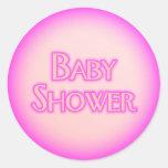 Burbuja de la fiesta de bienvenida al bebé etiqueta