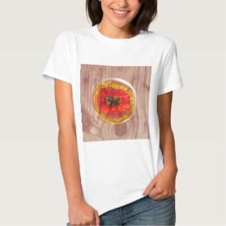 Burbuja de la flor a través de la madera camisas