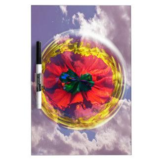 Burbuja de la flor en el cielo pizarras