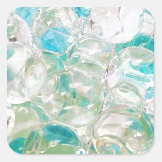 Burbuja de la jalea del aroma pegatina cuadrada