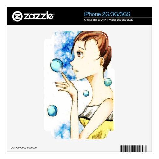 Burbuja de la piel de Iphone 2G/3G/3GS de los sueñ iPhone 3GS Skin