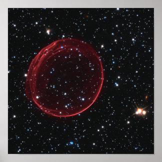 Burbuja de la supernova poster