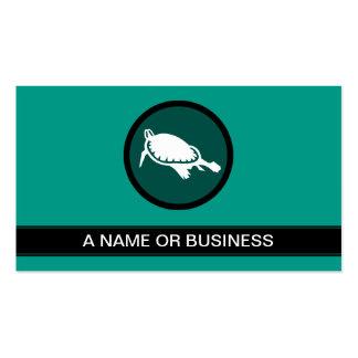 burbuja de la verde salvia de la tortuga tarjetas de visita