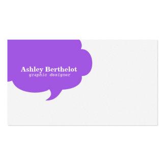 Burbuja de moda del discurso tarjeta personal