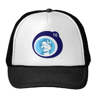 burbuja del azul de hillary Clinton Gorras De Camionero