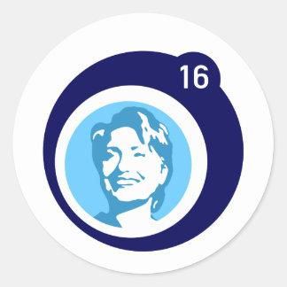 burbuja del azul de hillary Clinton Pegatina Redonda