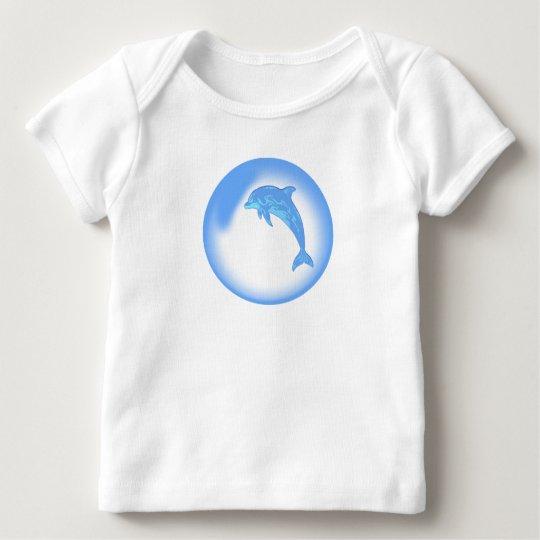 Burbuja del delfín playera de bebé