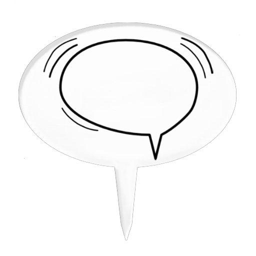 ¡Burbuja del discurso - añada su propio texto! Figura Para Tarta
