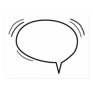 ¡Burbuja del discurso - añada su propio texto! Postal