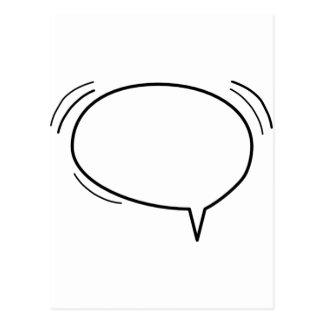 ¡Burbuja del discurso - añada su propio texto! Tarjetas Postales