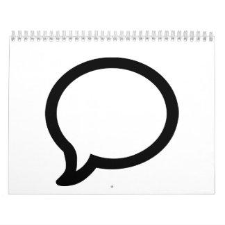 Burbuja del discurso calendarios