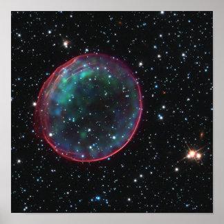 Burbuja del espacio póster