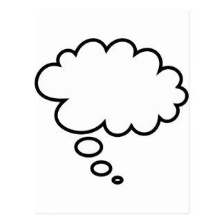 ¡Burbuja del pensamiento - añada su propio texto! Postal