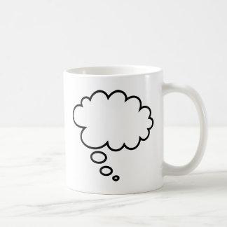 ¡Burbuja del pensamiento - añada su propio texto! Taza Clásica