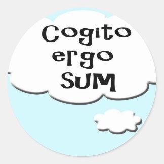 Burbuja del pensamiento - de Cogito suma ergo - Pegatina Redonda