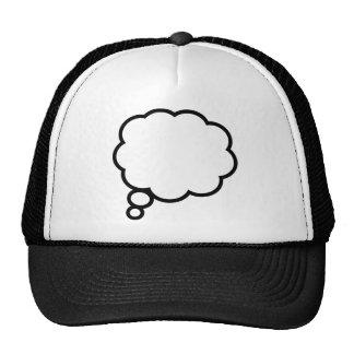 Burbuja del pensamiento gorras de camionero
