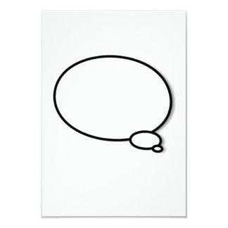 """Burbuja del pensamiento invitación 3.5"""" x 5"""""""