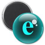 Burbuja E del monograma Imán Redondo 5 Cm