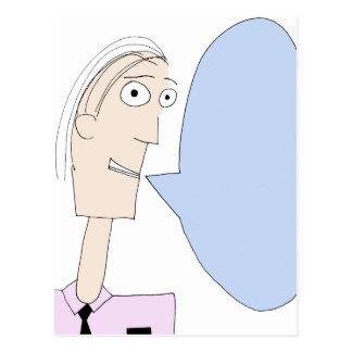 Burbuja en blanco del diálogo del dibujo animado tarjetas postales