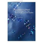 Burbuja iridiscente tarjeta de felicitación
