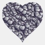Burbuja metálica calcomanías corazones