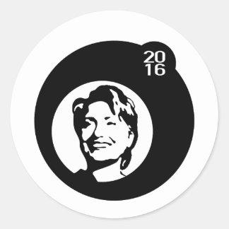burbuja negra de hillary Clinton Pegatina Redonda