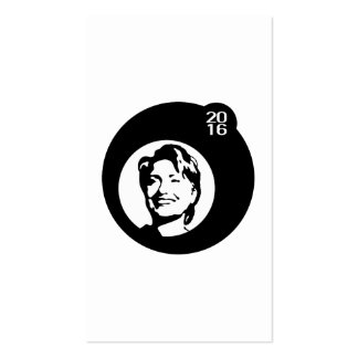 burbuja negra de hillary Clinton Tarjetas De Visita