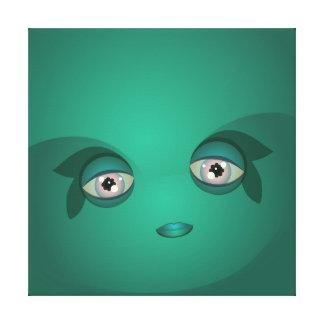 Burbuja verde clara de Cutie Impresiones En Lona