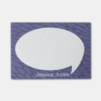 Burbuja violeta de la charla redondeada personaliz notas post-it