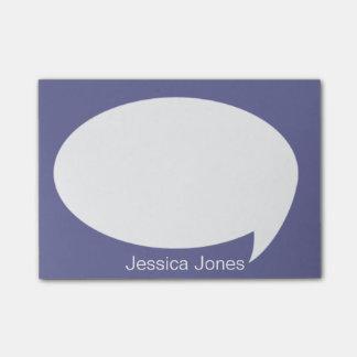 Burbuja violeta de la charla redondeada personaliz post-it nota