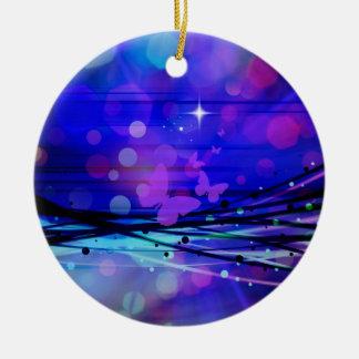 Burbujas abstractas coloridas de las mariposas de  ornaments para arbol de navidad