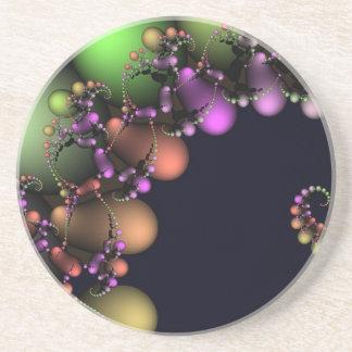 Burbujas abstractas festivas posavasos diseño